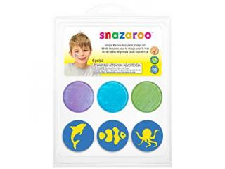SNAZAROO STAMP FACE PAINTING KIT UNDER THE SEA